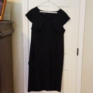 Dark navy professional dress. Size 8, worn once